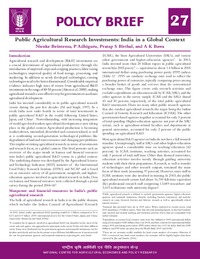 India asti icar policy brief asti for Policy brief example template