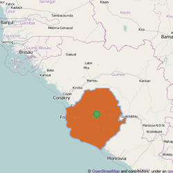 Map of  Sierra Leone